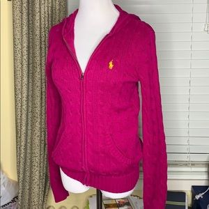 POLO by Ralph Lauren hooded cardigan Size Medium